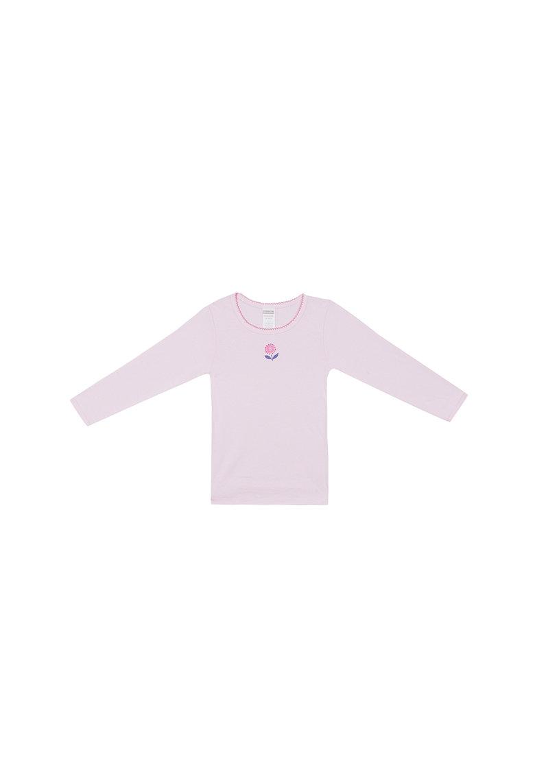 Bluza cu imprimeu cu floare thumbnail