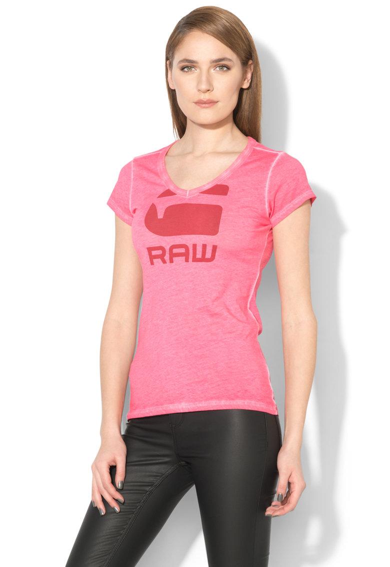 Tricou slim fit cu imprimeu logo Suphe thumbnail