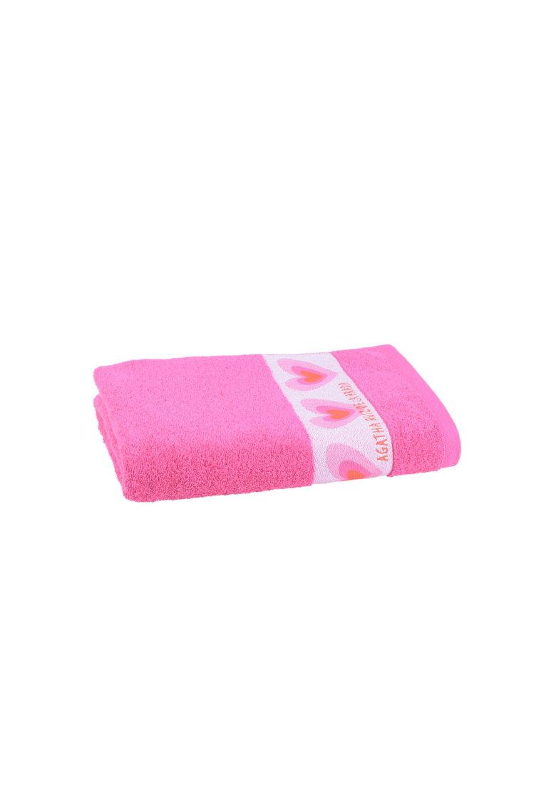 Prosop din material terry - bumbac - 70x140 cm - fuchsia thumbnail