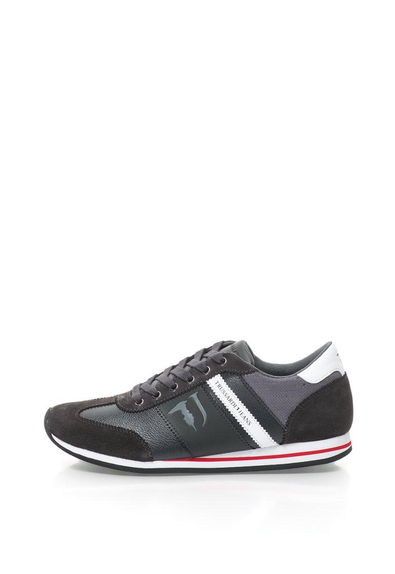 Pantofi sport cu garnituri de piele intoarsa thumbnail