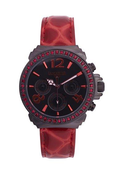 Lancaster Ceas cronograf rosu cu negru Pillo Fantasy