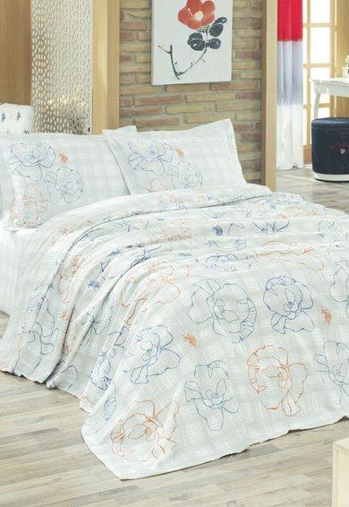 FashionDays.ro: Set de pat gri cu alb in carouri US Polo Assn