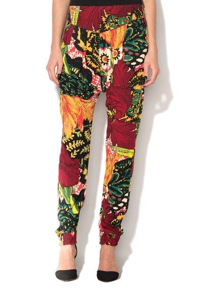 Pantaloni jogger cu imprimeu multicolor Eva