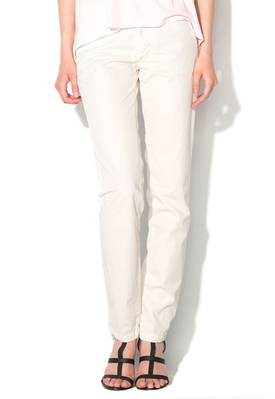 Pantaloni chino alb murdar Colfrax de la Pepe Jeans London