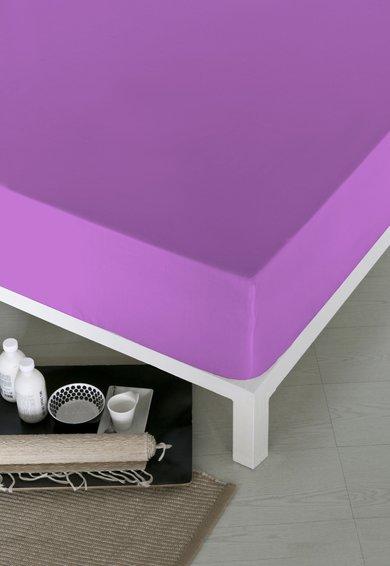 Cearsaf violet ametist cu elastic de la Naturals