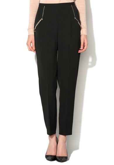 Pantaloni negri cu decoratiuni Sundae