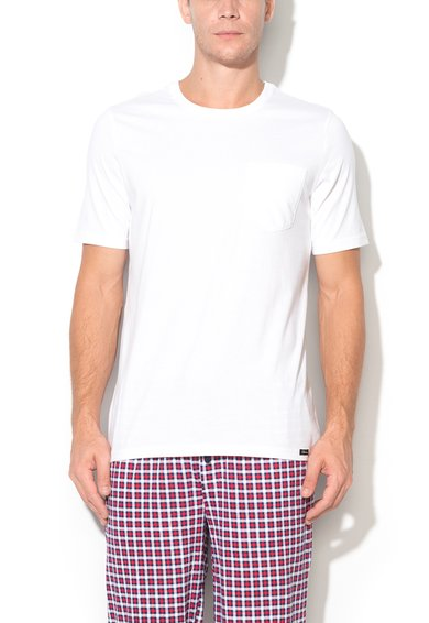 Tricou alb cu buzunar Recreate Sleep de la Skiny