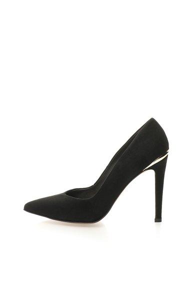 FashionDays.ro: Pantofi stiletto negri de piele intoarsa Roberto Botella