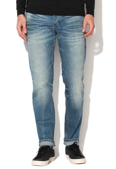 Jeansi comfort fit albastru prespalati Mike de la Jack&Jones