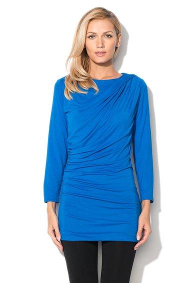 FashionDays.ro: Bluza albastru safir cu fronseuri Finn JDC London