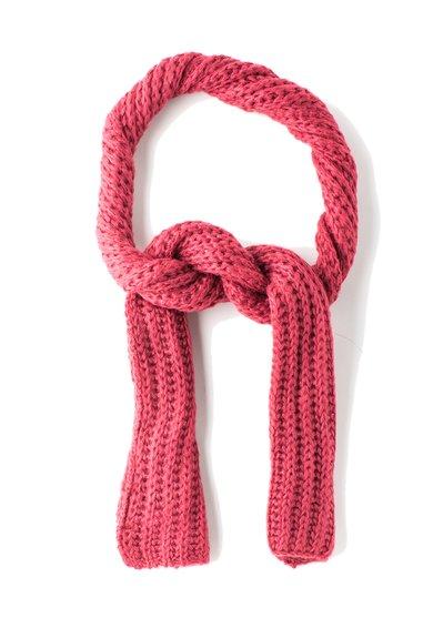 Sisley Fular roz zmeuriu tricotat