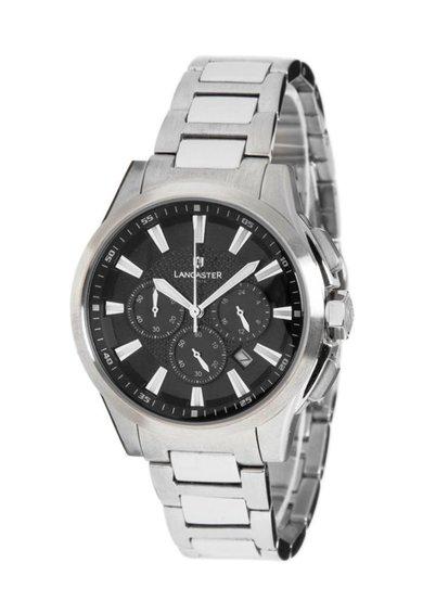 FashionDays.ro: Ceas cronograf argintiu cu cadran negru Lancaster