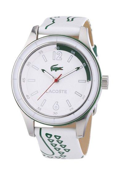 FashionDays.ro: Ceas alb cu verde si imprimeu logo Sydney Lacoste