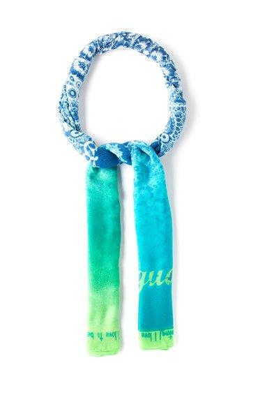 FashionDays.ro: Esarfa albastru cu verde cu imprimeu mandala Sian Desigual