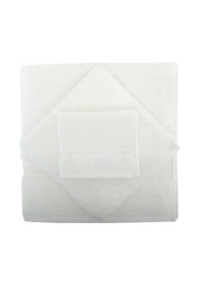 Set de prosoape albe - 3 piese