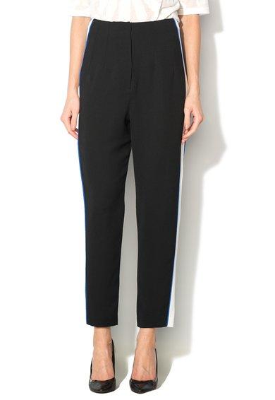 Pantaloni crop color block