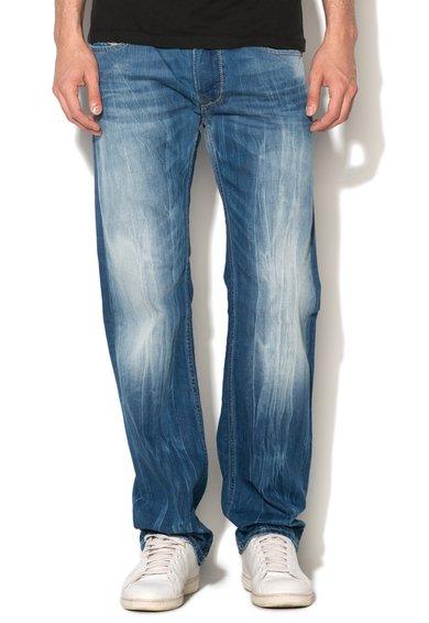 Jeansi albastri cu aspect decolorat Larkee