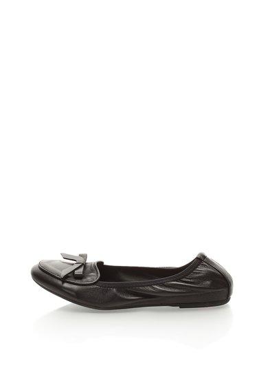 FashionDays.ro: Balerini elastici negri din piele Zee Lane