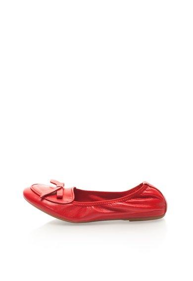 FashionDays.ro: Balerini elastici rosii din piele Zee Lane