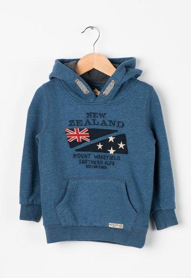 New Zealand Auckland Hanorac albastru petrol cu broderie