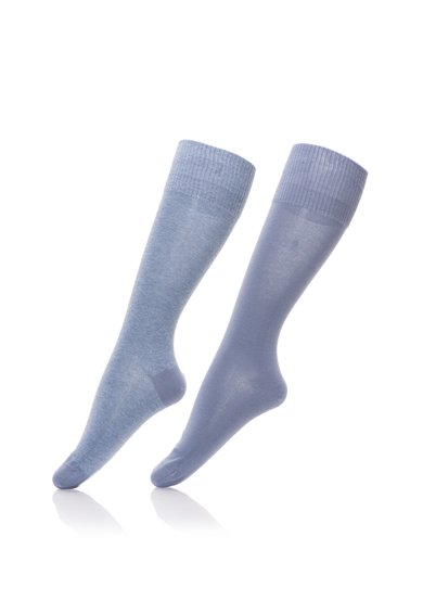 Set de sosete lungi albastru cu gri - 2 perechi