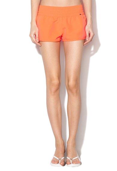 Pantaloni scurti corai neon cu logo de la Skiny