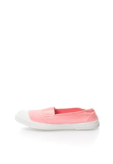 Pantofi slip-on roz din panza de la Bensimon