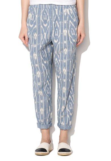 Pantaloni albastru prafuit cu alb murdar si imprimeu Havan de la Pepe Jeans London
