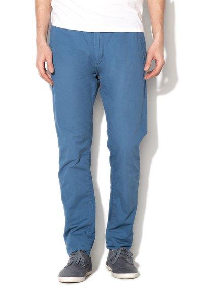 Pantaloni chino slim fit albastri cu o curea Jimmy de la Alcott