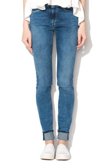 FashionDays.ro: Jeansi albastri slim fit cu aspect deteriorat Regent Pepe Jeans London