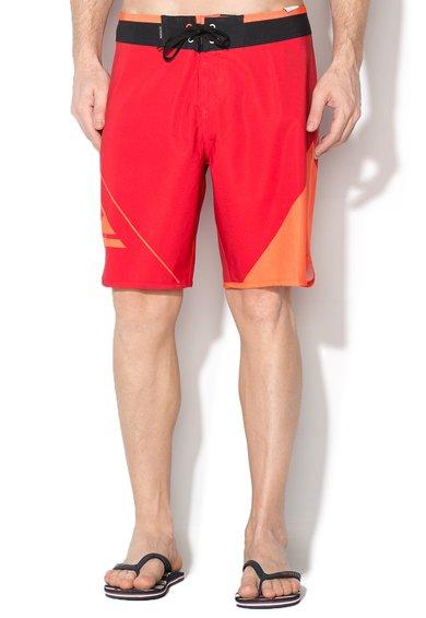 Quiksilver Pantaloni scurti pentru surf rosu cu oranj New Wave 19