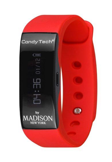 Madison New York Ceas inteligent negru cu rosu Candy Tech