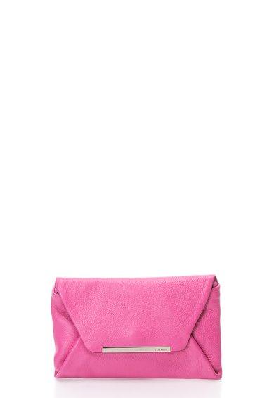 COCCINELLE Geanta plic roz din piele New Bibi