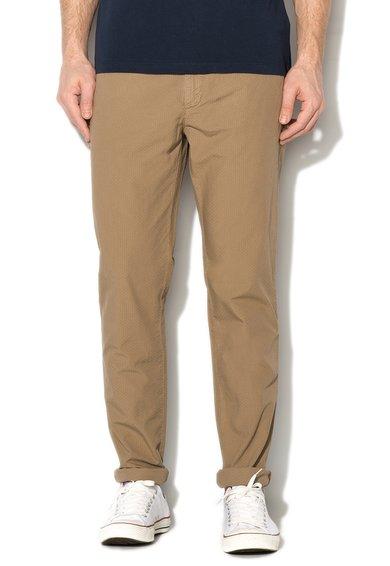 United Colors Of Benetton Pantaloni slim fit maro nisip texturati