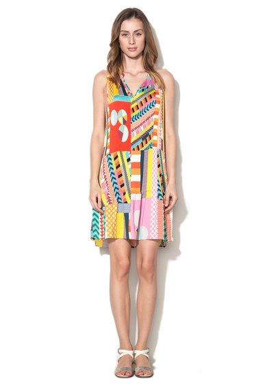 Desigual Rochie multicolora cu imprimeu geometric Maria