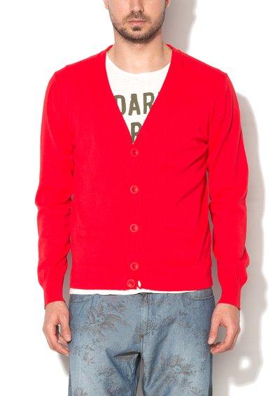 FashionDays.ro: Cardigan rosu din jerseu United Colors Of Benetton