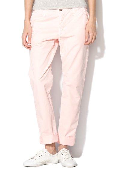 J Brand Pantaloni roz chino cu talie joasa Inez