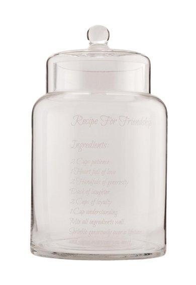 Recipient transparent din sticla cu capac de la Clayre  Eef