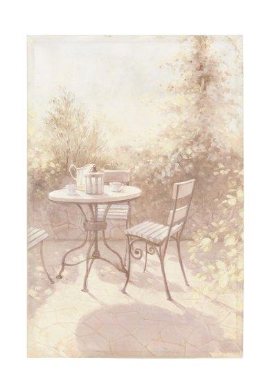 Clayre & Eef Tablou imprimat din panza cu gradina in nuante de bej