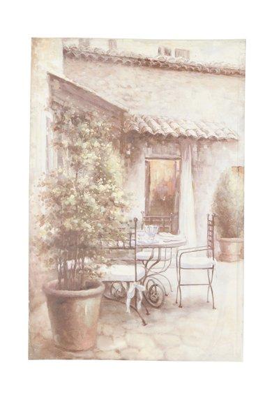 Tablou imprimat din panza cu gradina bej cu verde de la Clayre  Eef