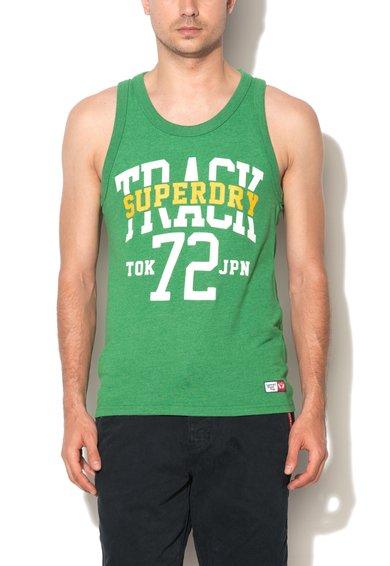 Top verde cu imprimeu Trackster de la Superdry