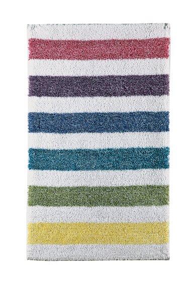 FashionDays.ro: Covoras de baie alb murdar cu dungi multicolore Spray Sorema
