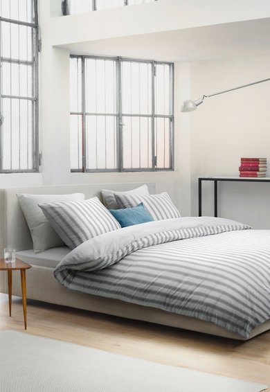 Marc OPolo Set de pat alb cu gri in dungi Vall