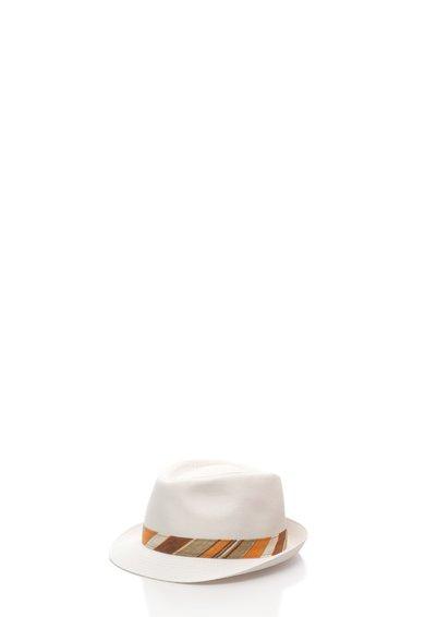 Bojua Palarie alba cu garnitura multicolora