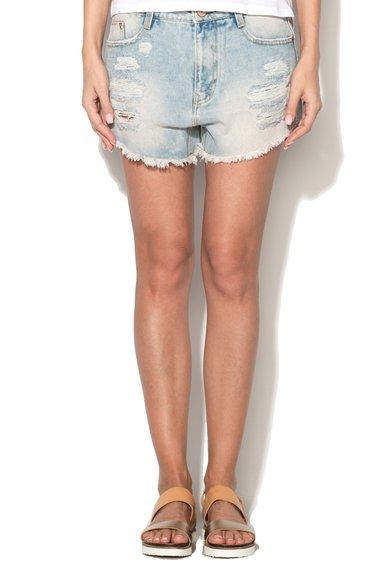 FashionDays.ro: Pantaloni scurti bleu din denim cu aspect deteriorat Alcott