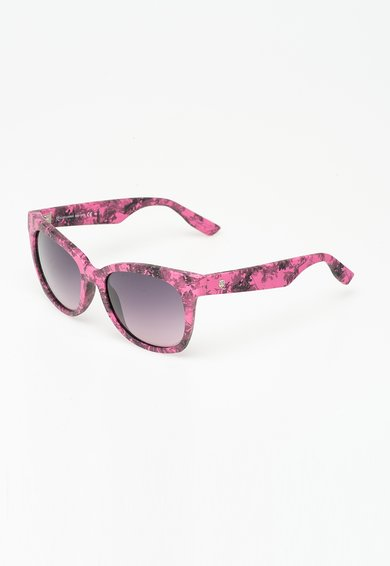 Mcq Alexander McQueen Ochelari de soare roz cu gri cu imprimeu