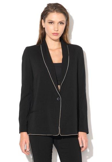 FashionDays.ro: Sacou negru cu garnituri albe Just Cavalli