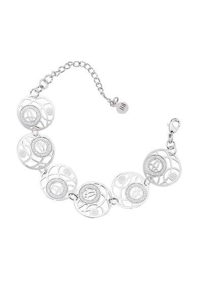Bratara Argintie Cu Elemente Rotunde