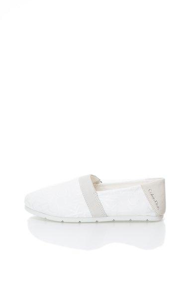 Calvin Klein Jeans Pantofi slip-on alb cu grej Neil