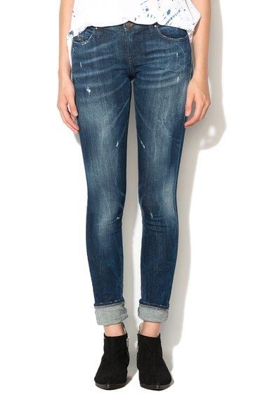 Jeansi albastru inchis slim fit Skinzee